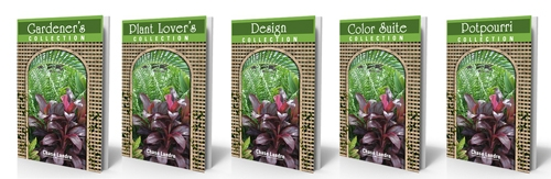 Column Collections ebook covers - Gardener's, Plant Lover's, Design, Color Suite, Potpourri